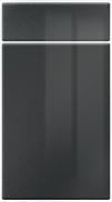 High GlossHigh Gloss Anthracite bedroom door finish