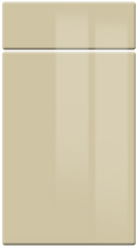 High Gloss Beige kitchen door and drawer fronts