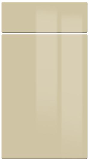 High Gloss Beige kitchen door finish