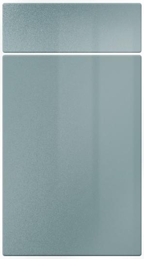 Gloss Blue Metallic kitchen door finish