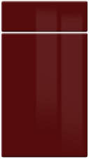 High Gloss Burgundy kitchen door and drawer fronts