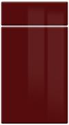 High GlossHigh Gloss Burgundy bedroom door finish