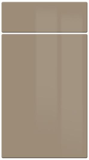 High Gloss Cappuccino kitchen door finish
