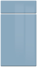 High Gloss Denim kitchen door and drawer fronts