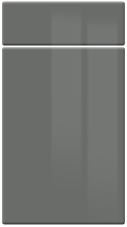 High Gloss Dust Grey kitchen door and drawer fronts