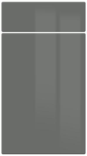 High Gloss Dust Grey kitchen door finish