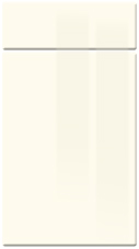 High Gloss Ivory kitchen door and drawer fronts