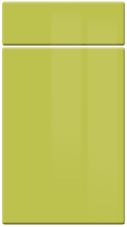 Gloss Lime Green kitchen door and drawer fronts