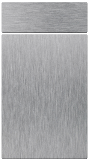 Brushed Steel kitchen door finish
