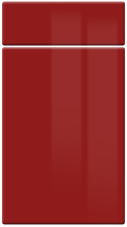 High Gloss Red kitchen door and drawer fronts