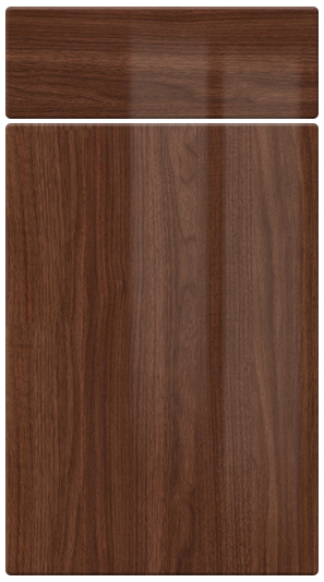 High Gloss Walnut***Now Discontinued*** kitchen door finish