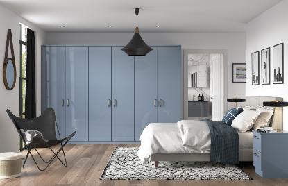 Premier Modena bedroom in High Gloss Denim finish
