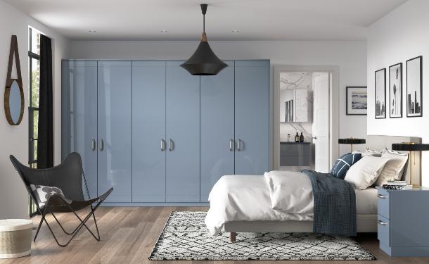 High Gloss Denim bedroom picture