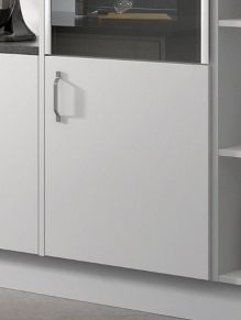 Close up of Premier Duleek kitchen doors in Pure White
