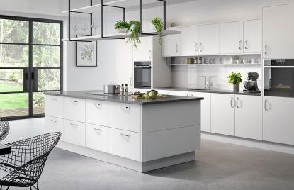 Premier Duleek kitchen doors in Pure White