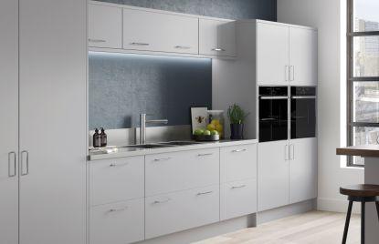 Premier Duleek kitchen doors in Light Grey