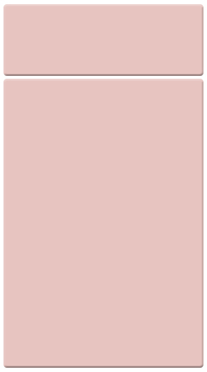 True Matt Dusky Pink kitchen door finish
