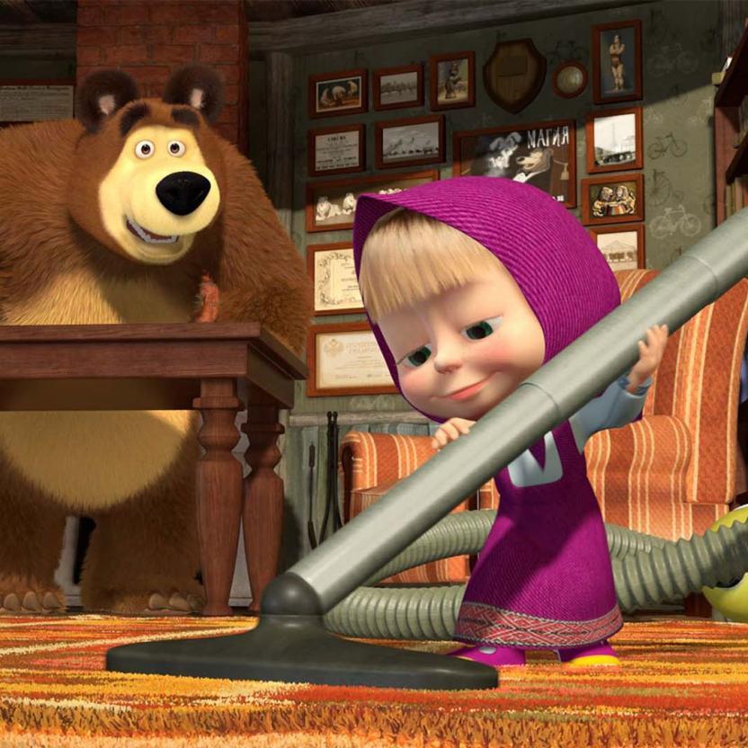"""Мультфильм """"Маша и Медведь"""" вошел в ТОП-5 самых любимых детских брендов в мире"""