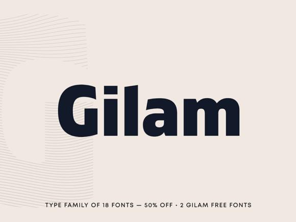 Gilam: police sans empattement géométrique moderne