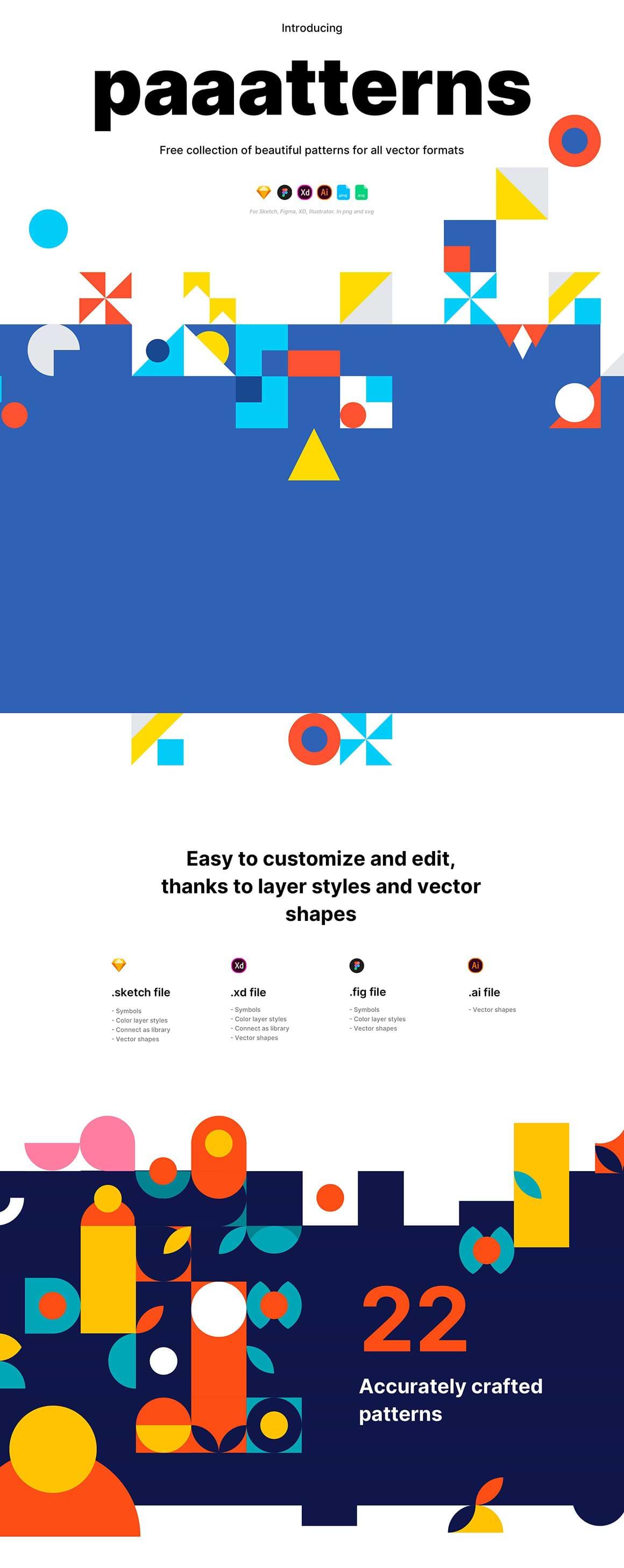 Paaatterns: Modèles gratuits pour la conception de sites Web