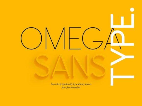 Omega Sans: une police sans empattement classique