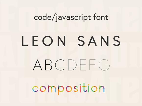 Leon Sans: une police de caractères géométriques basée sur JavaScript