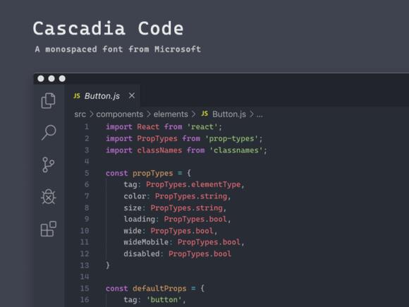Cascadia Code: une police monospaced de Microsoft