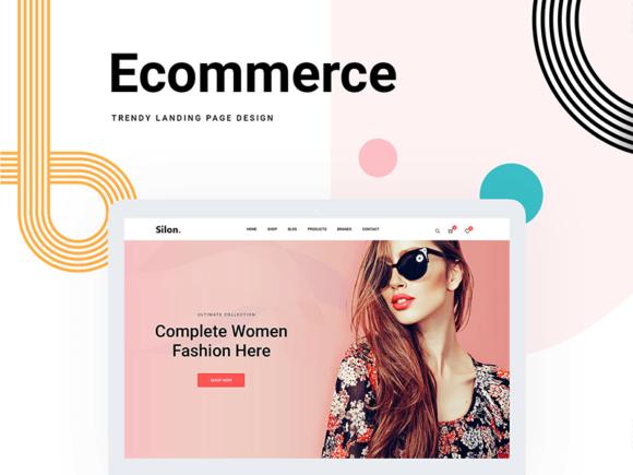 Silon: modèle de commerce électronique PSD et HTML gratuit
