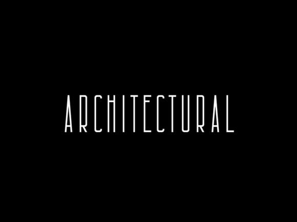 Architectural: police condensée gratuite