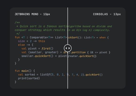 JetBrains Mono: police de caractères gratuite pour les développeurs