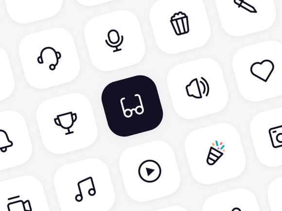 128 icônes vectorielles gratuites pour la conception de l'interface utilisateur