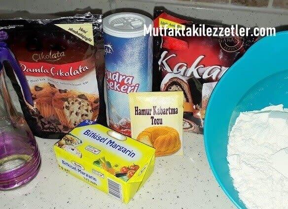 Ayıcıklı kurabiye malzemeleri