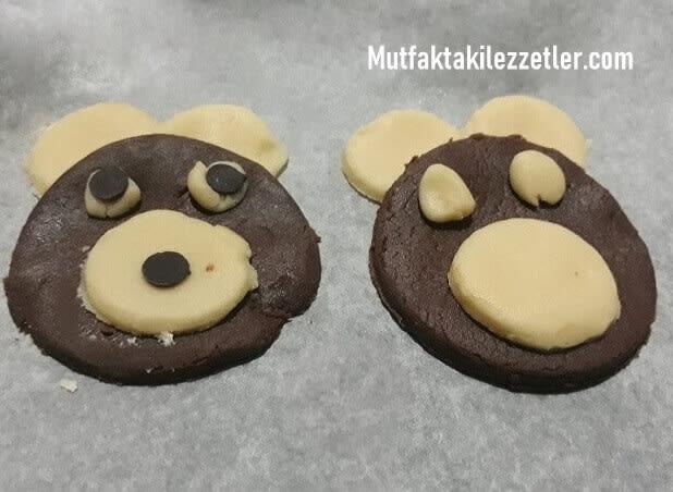 Ayı şeklinde kurabiye