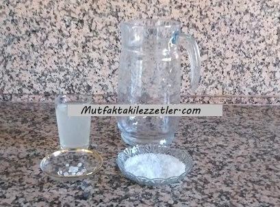 Kornişon turşusu suyu hazırlama