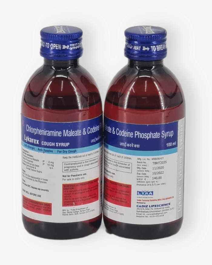 Chlorpheniramine maleate and Codeine Phosphate syrup 100ml