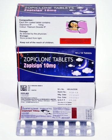Zopiclone 10mg Tablets HAB Pharma
