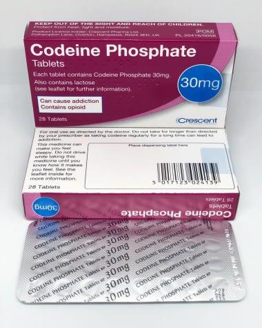 Codeine Phosphate 30mg Tablets Crescent