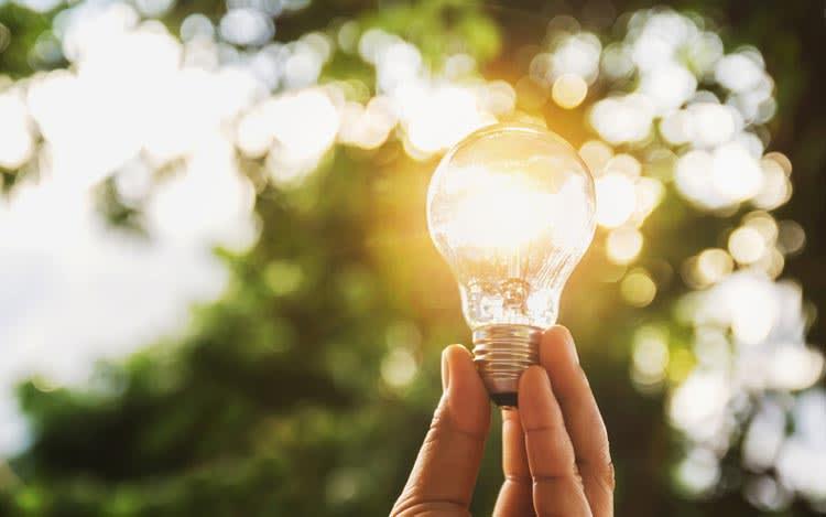 Energie sparen Frühling