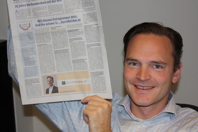 Michael Doberer wird WU Alumni Entrepreneur auf the Year 2011