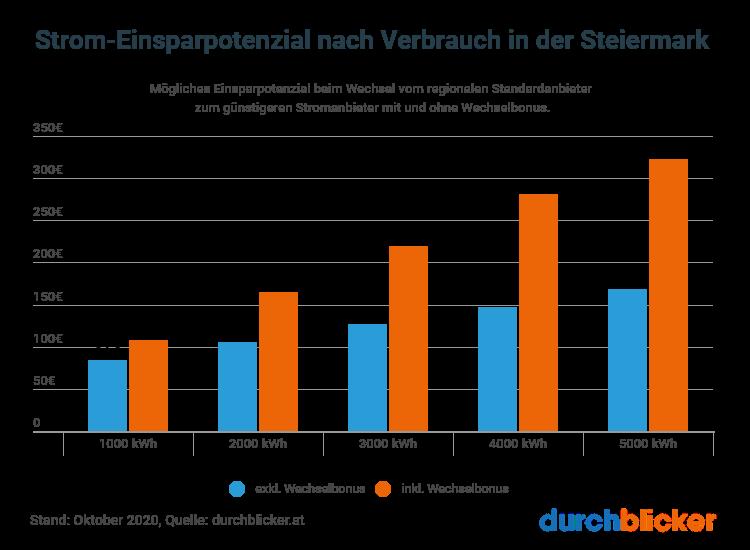 Strom Einsparpotenzial Steiermark