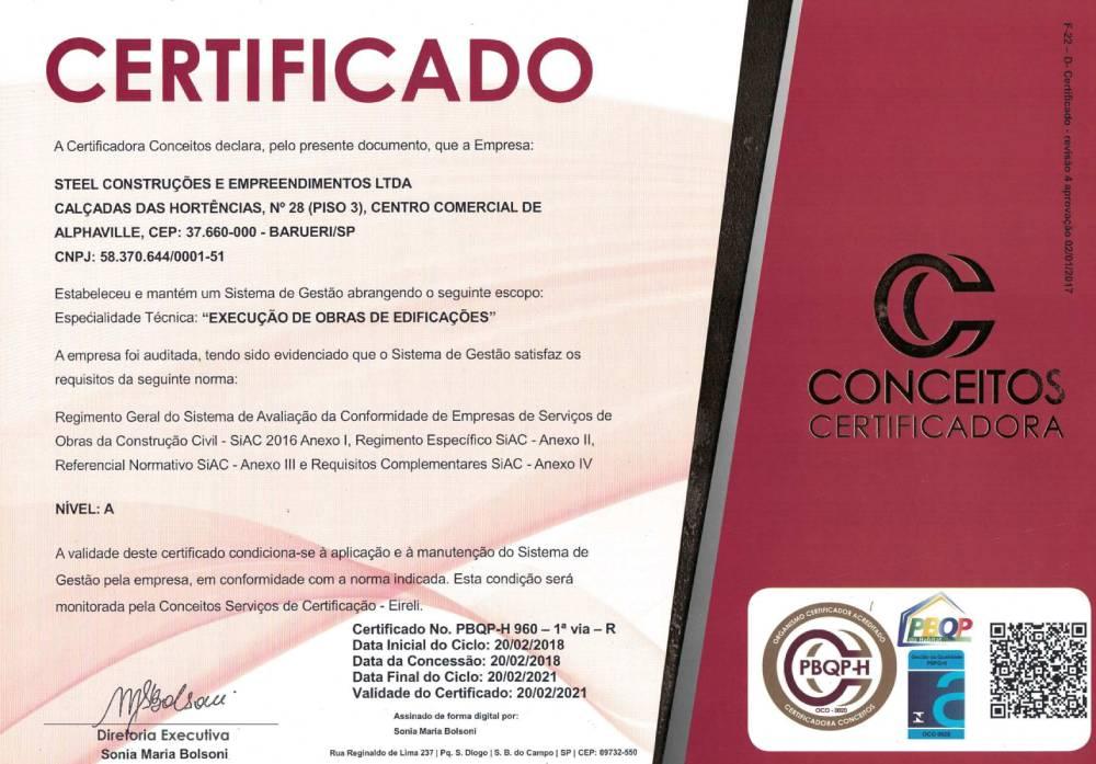 Certificado ISO 9100 e PBQP-H