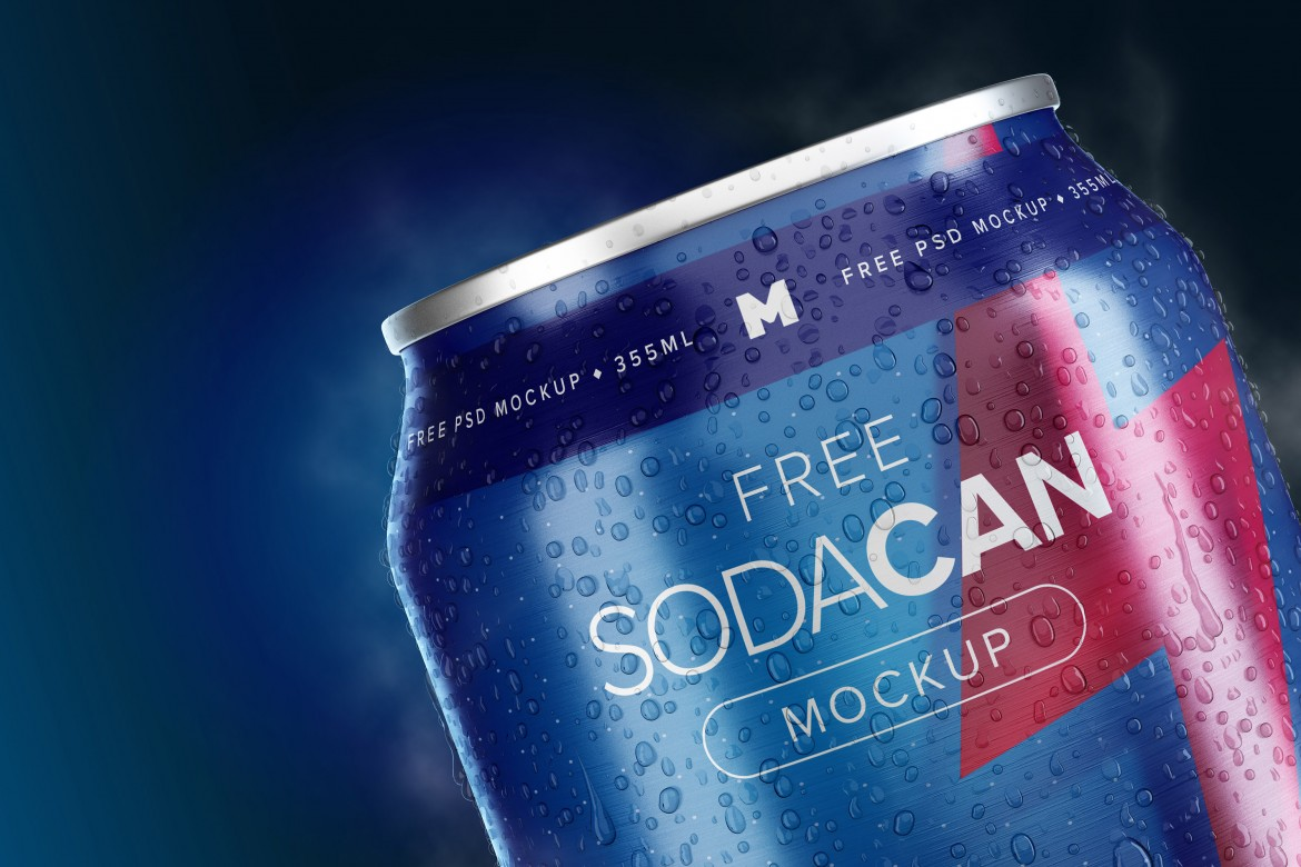 355ml Soda Can Psd Mockup