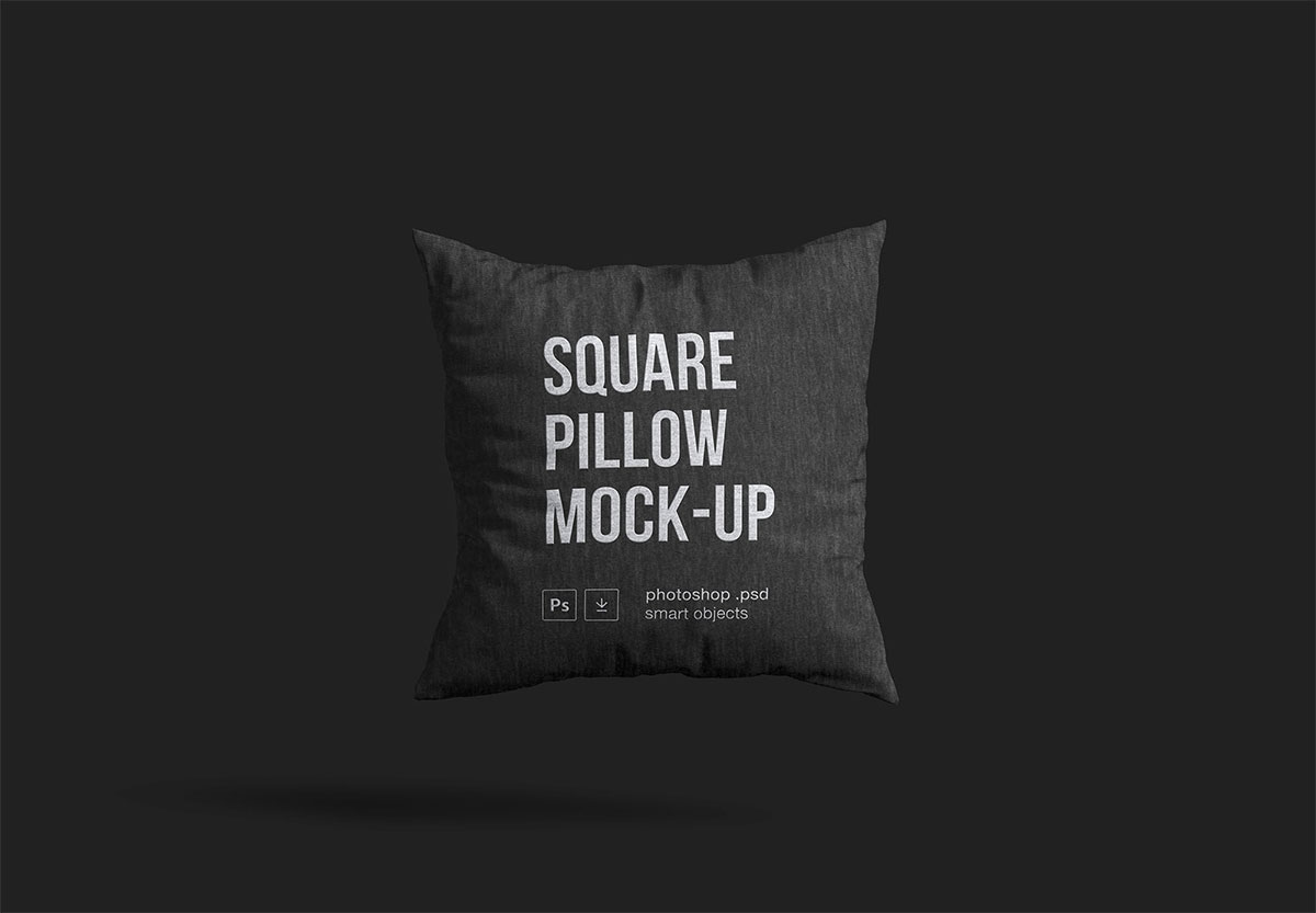 Square Pillow Mockup PSD