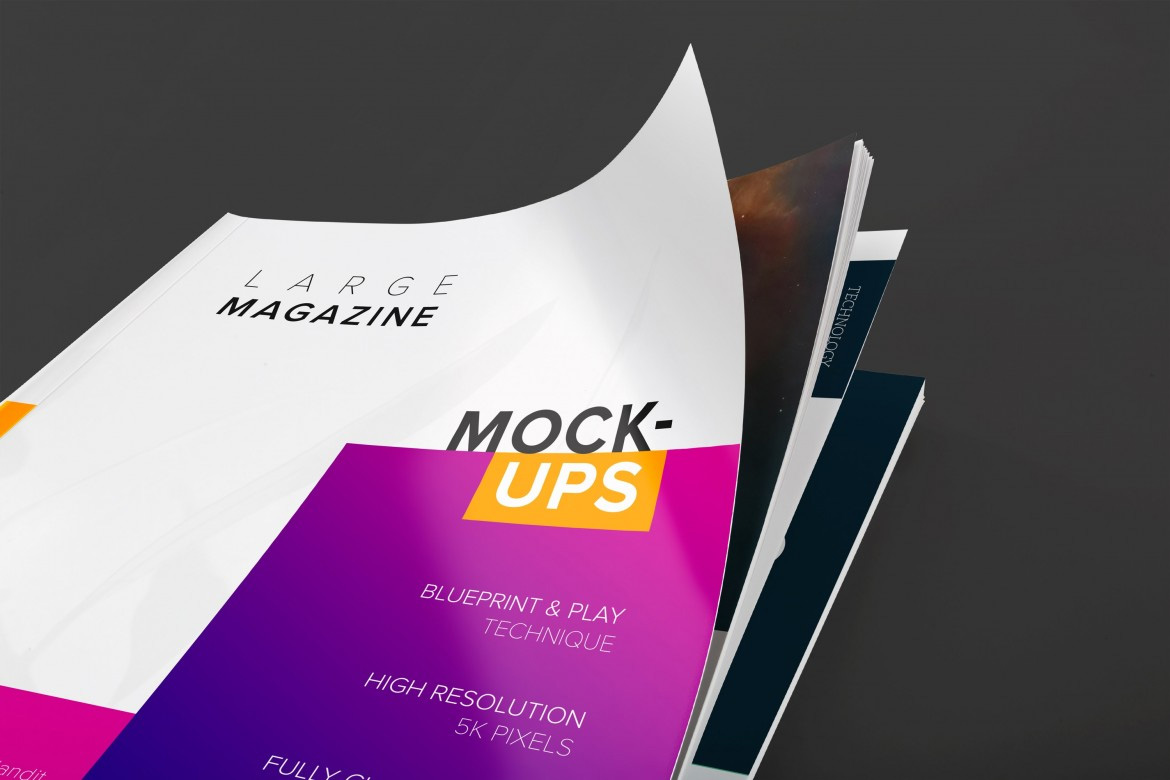 Large Magazine Mockup Cover