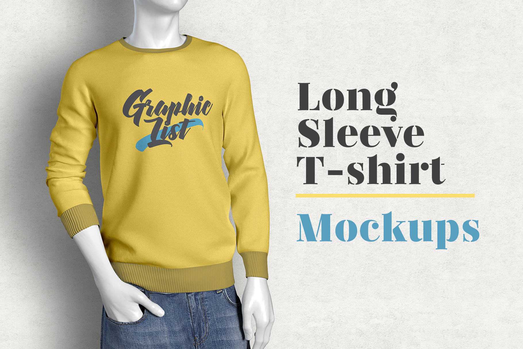 Free Long Sleeve T shirt Mockup
