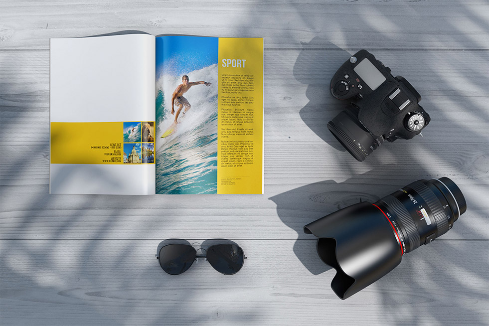 Photography Magazine PSD Mockups