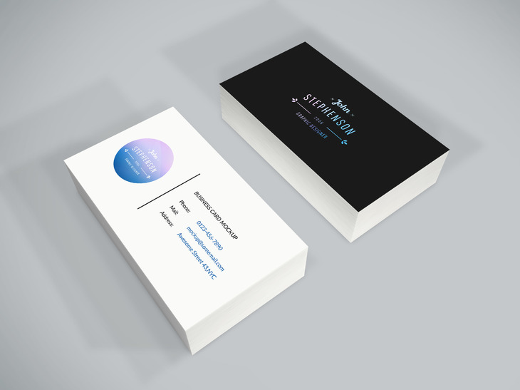 Black & White Business Card Mockup