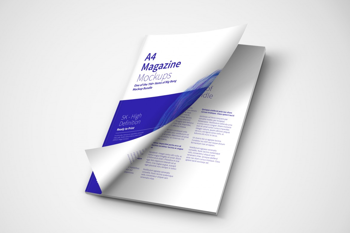 A4 Magazine Cover PSD Mockup