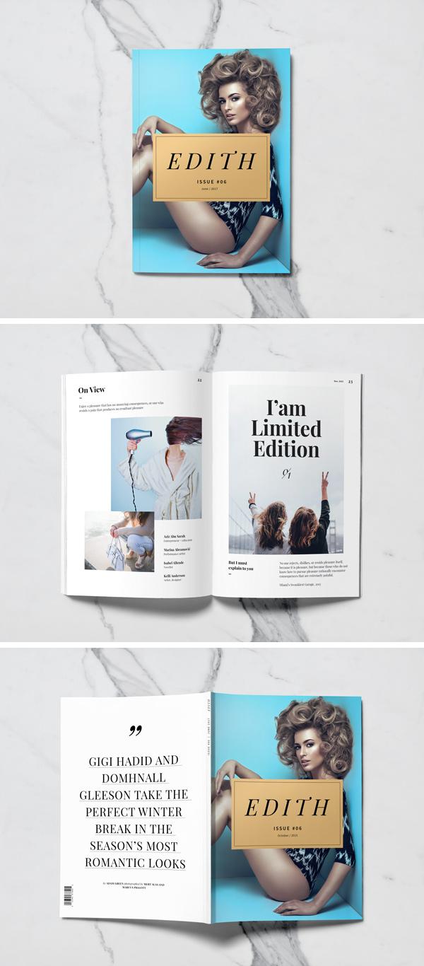 A5 Magazine Free PSD Mockup