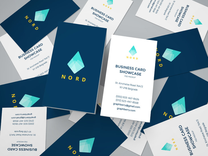 Business Cards Design Mockup